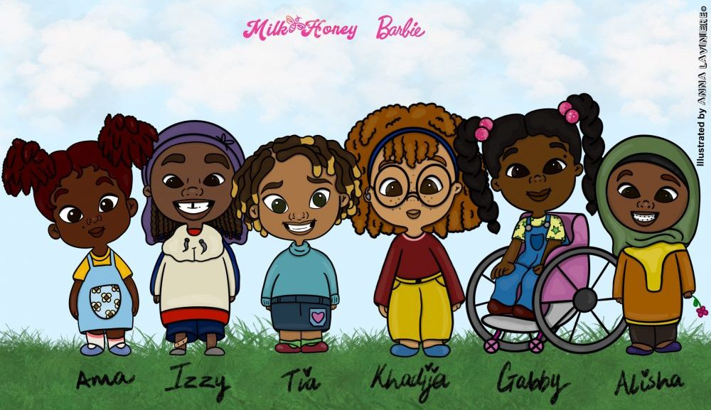 Barbie x Milk and Honey characters